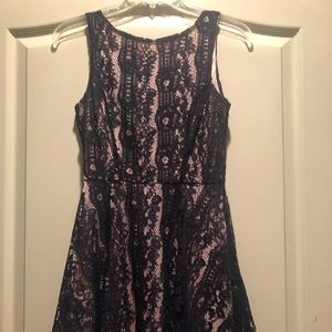 Speechless Navy Lace overlay dress, Junior size XS